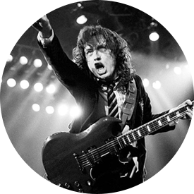 Angus Young and his Gibson SG