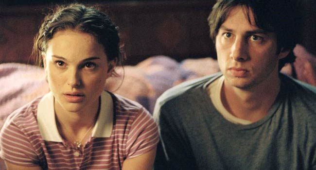Zach Braff and Natalie Portman in Garden State