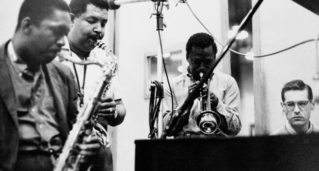 Miles Davis, John Coltrane, Canonball Adderley and Bill Evans