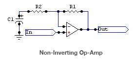 Non-inverting op-amp