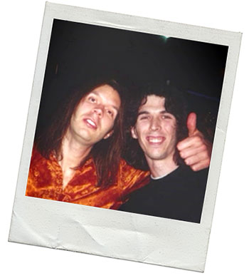 Is this Buckethead unmasked next to Paul Gilbert?