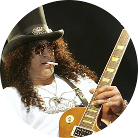 Slash and his Les Paul