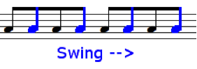 swing eighth notes