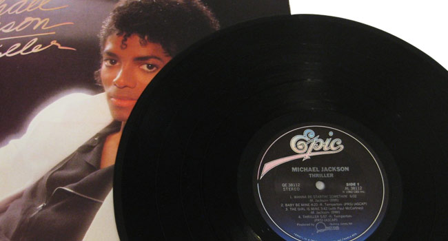 Michael Jackson Thriller first vinyl pressing